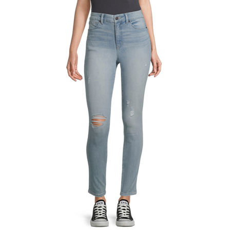 Arizona - Juniors Real Curve Womens High Rise Skinny Fit Jean, 1 , Blue