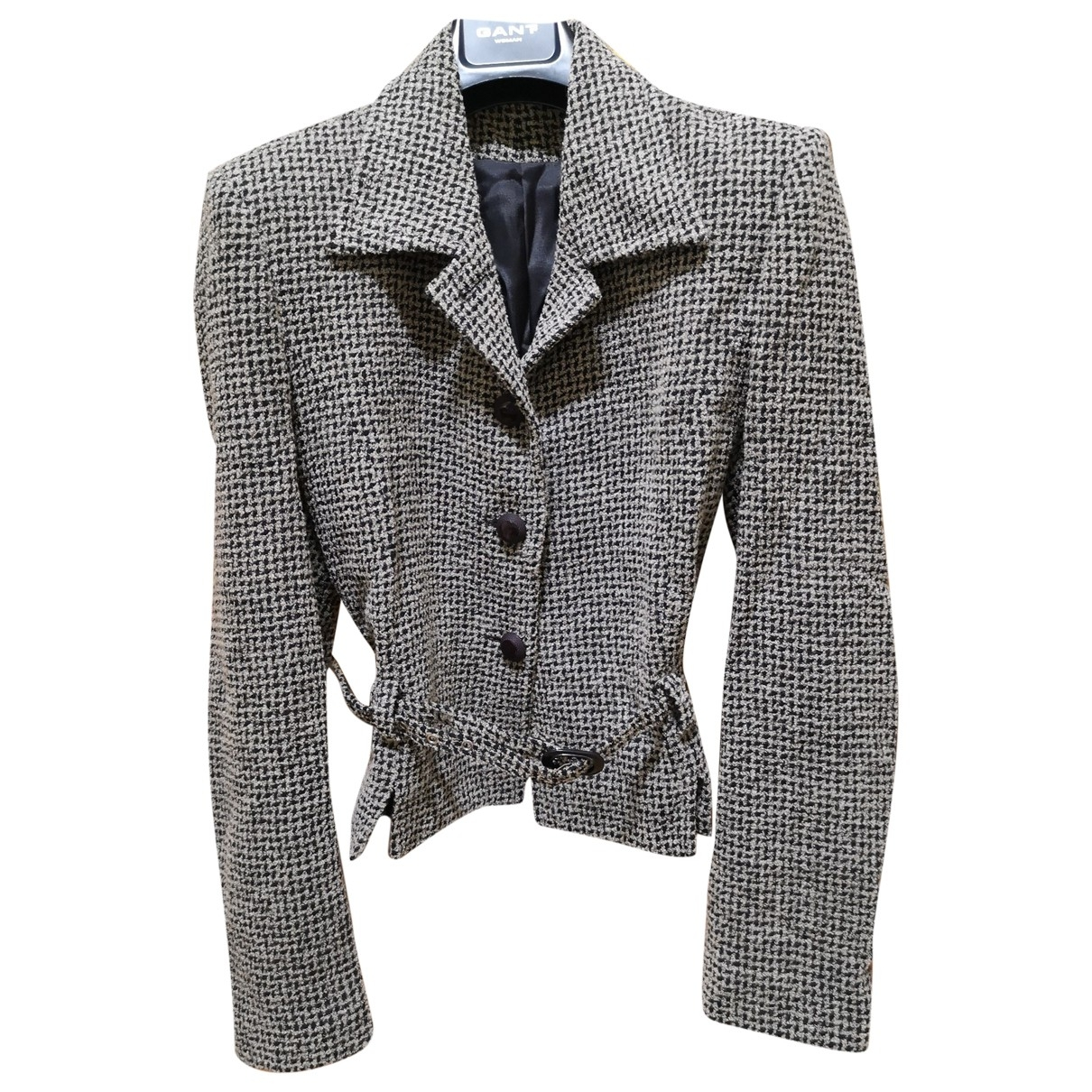 Non Signé / Unsigned \N Grey Wool jacket for Women 42 FR