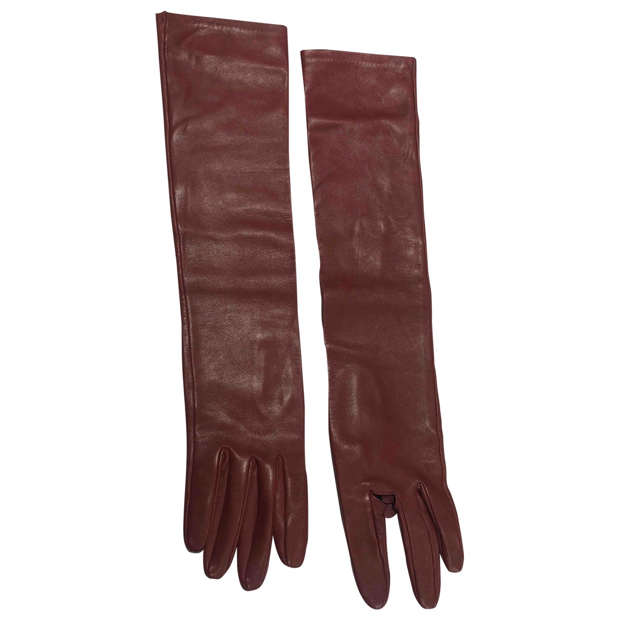 Acne Studios \N Brown Leather Gloves for Women S International