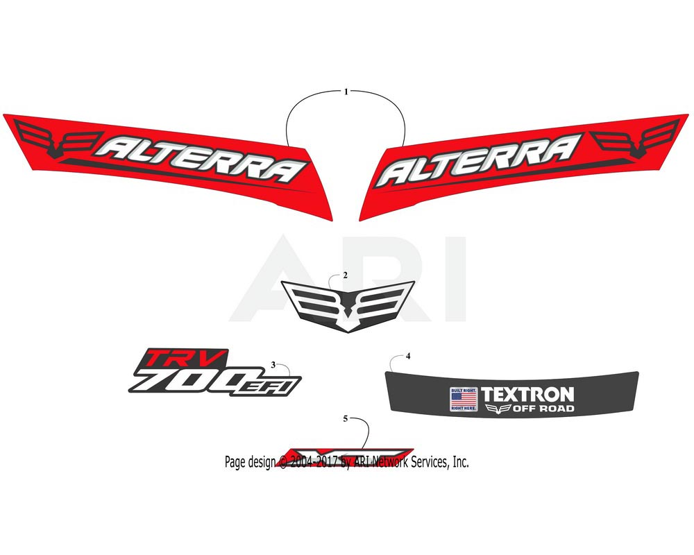Arctic Cat OEM 5411-953 Decal Textron Built Right Here Alterra