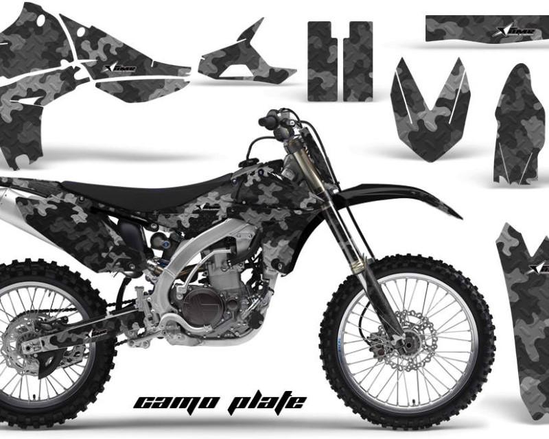 AMR Racing Graphics MX-NP-YAM-YZ450F-10-13-CP K Kit Decal Sticker Wrap + # Plates For Yamaha YZ450F 2010-2013áCAMOPLATE BLACK