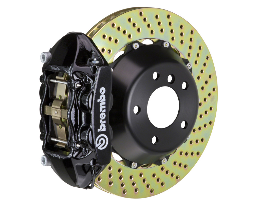 Brembo GT 380x28 2-Piece 4 Piston Black Drilled Rear Big Brake Kit
