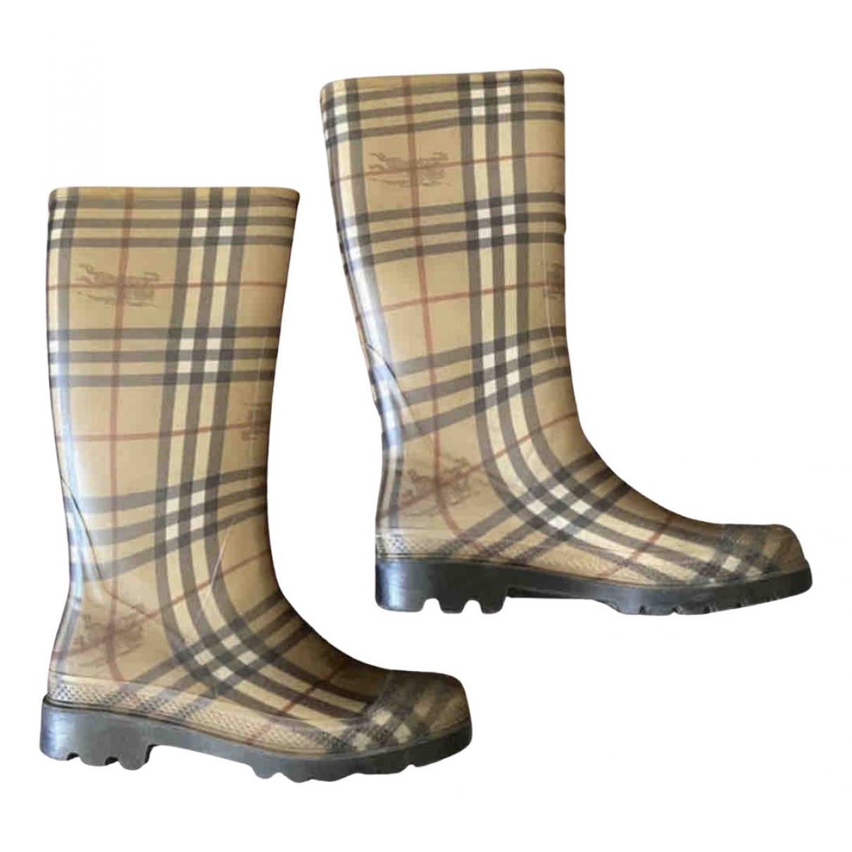 Burberry N Brown Rubber Boots for Women 7 UK