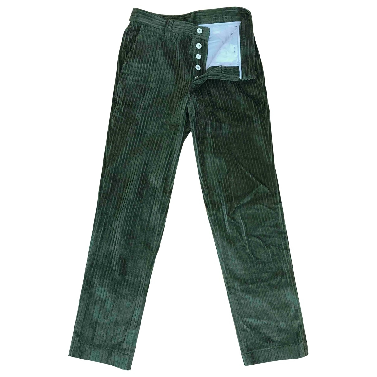 Sunnei \N Green Cotton Trousers for Men S International
