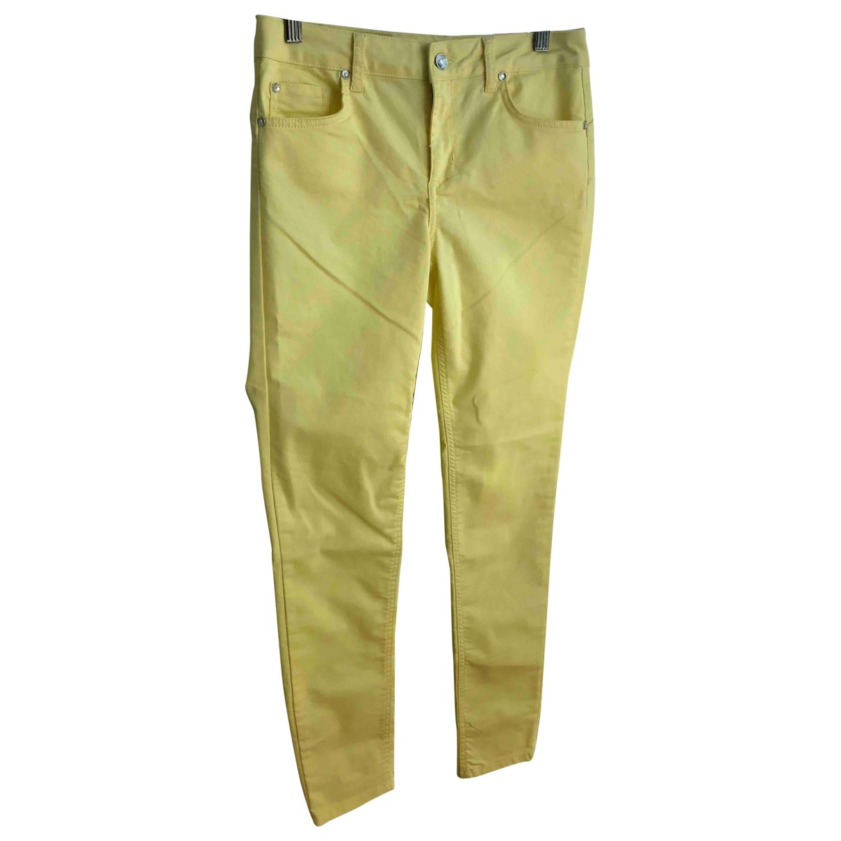 Liu.jo \N Yellow Cotton Jeans for Women 40 FR