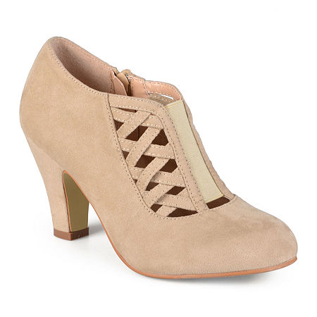 Journee Collection Womens Piper Ankle Booties, 8 1/2 Medium, Beige