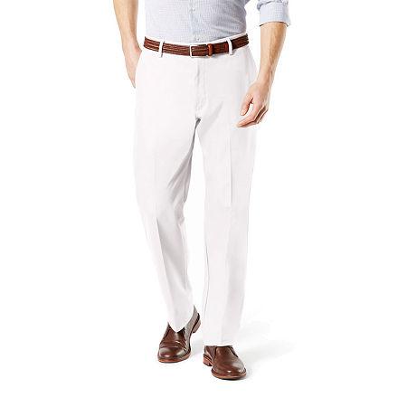 Dockers Men's Classic Fit Signature Khaki Lux Cotton Stretch Pants D3, 36 30, White
