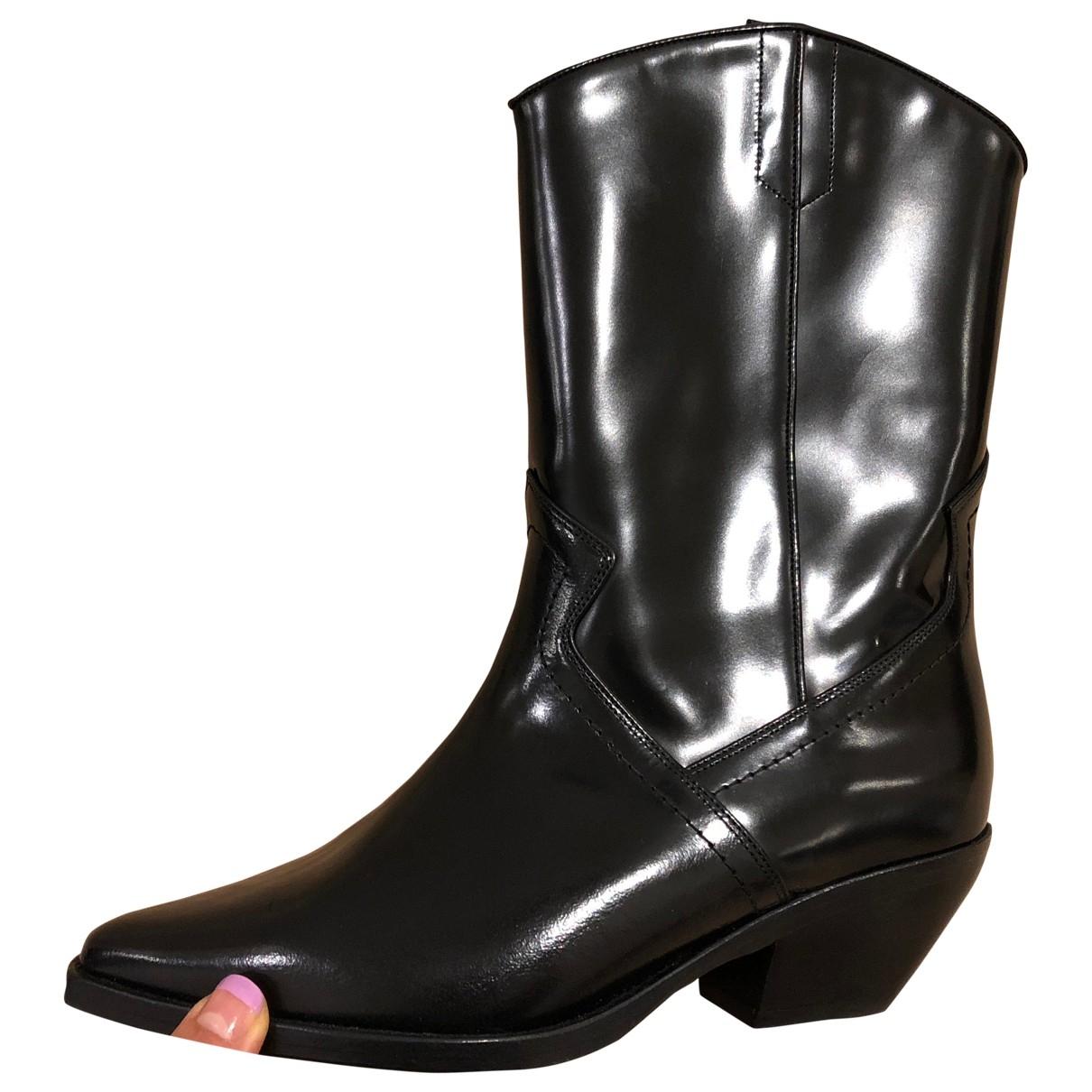 All Saints \N Black Leather Boots for Women 37 EU