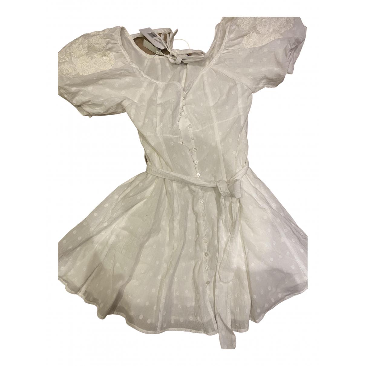 Innika Choo \N White Cotton dress for Women 1 0-5