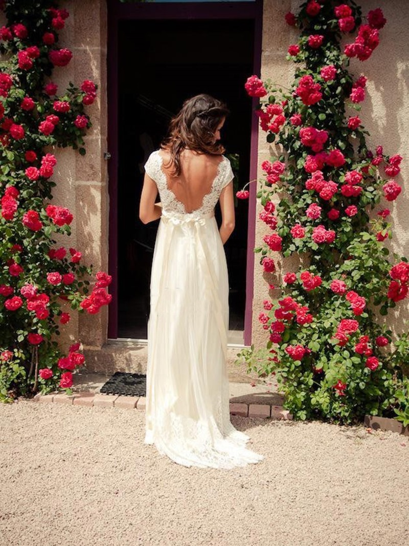 Ericdress Empire Waist Sashes Lace Beach Wedding Dress