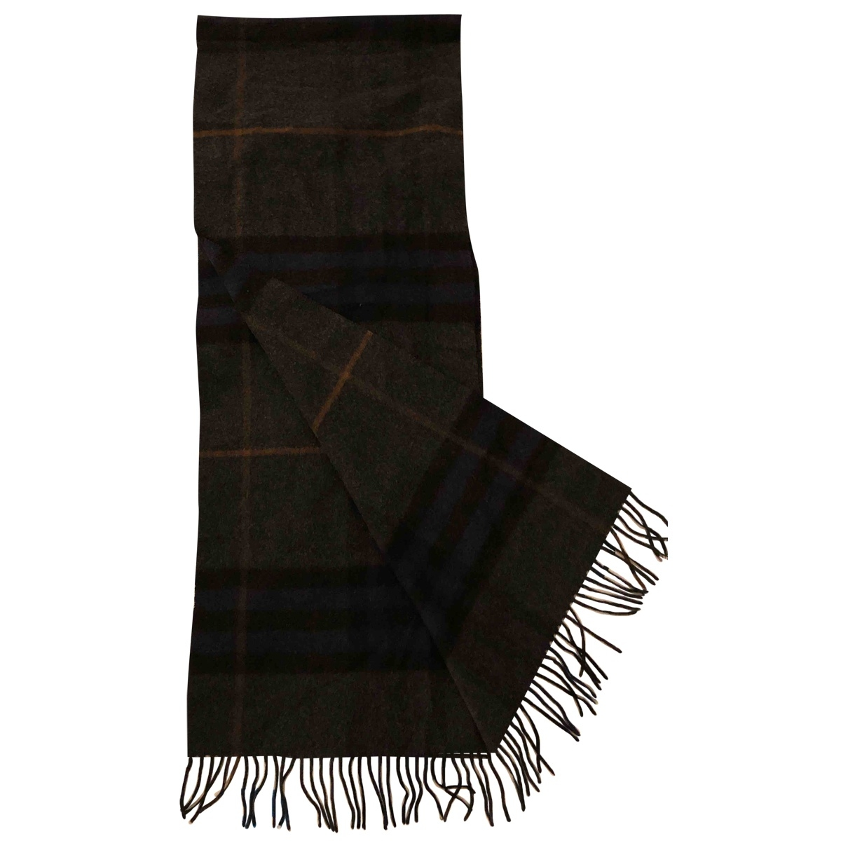 Burberry \N Anthracite Cashmere scarf & pocket squares for Men \N