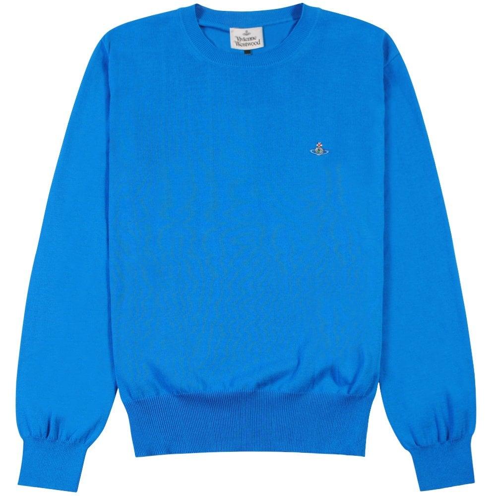 Vivienne Westwood Classic Knit Jumper  Colour: BLUE, Size: LARGE