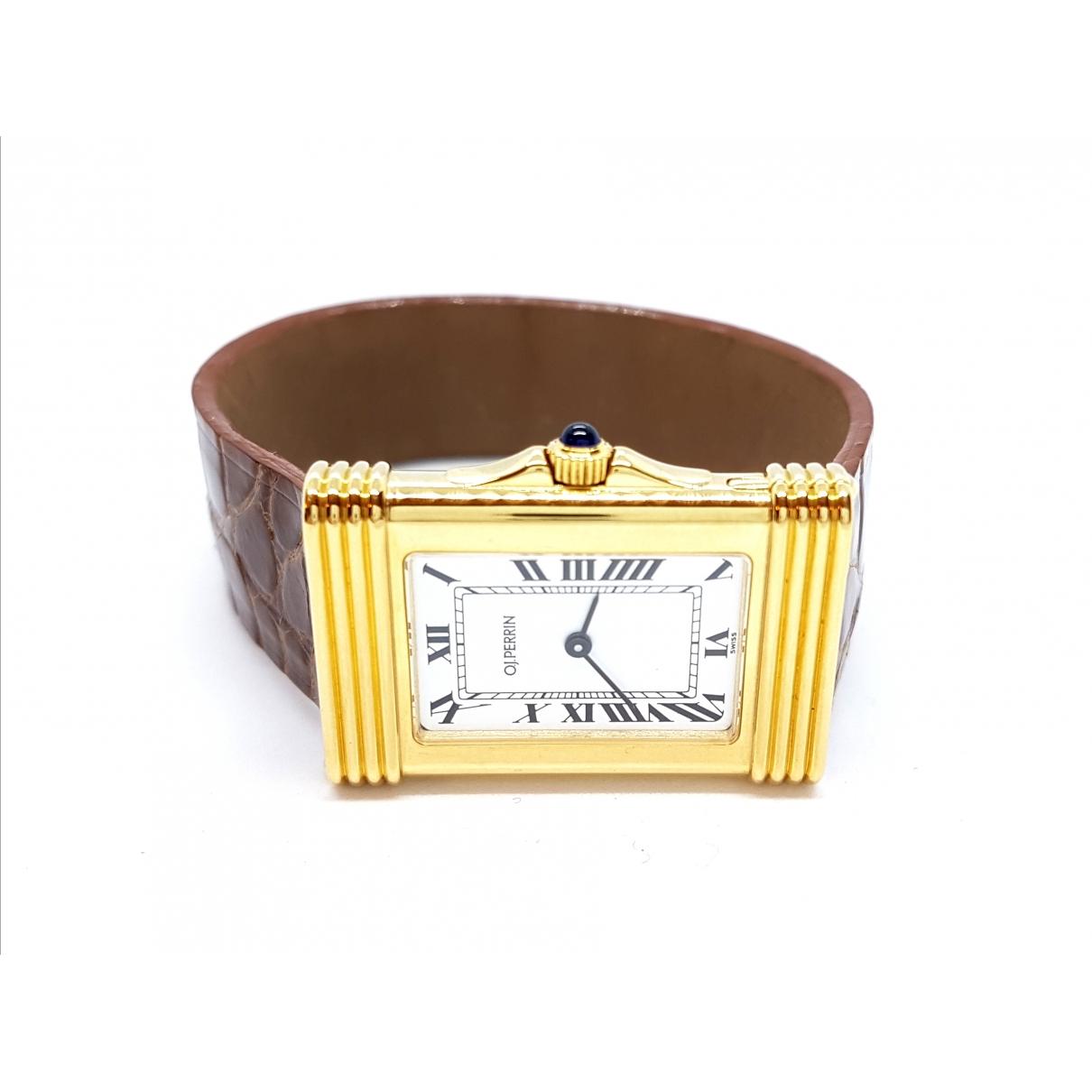 O.j. Perrin \N Gold Yellow gold watch for Women \N