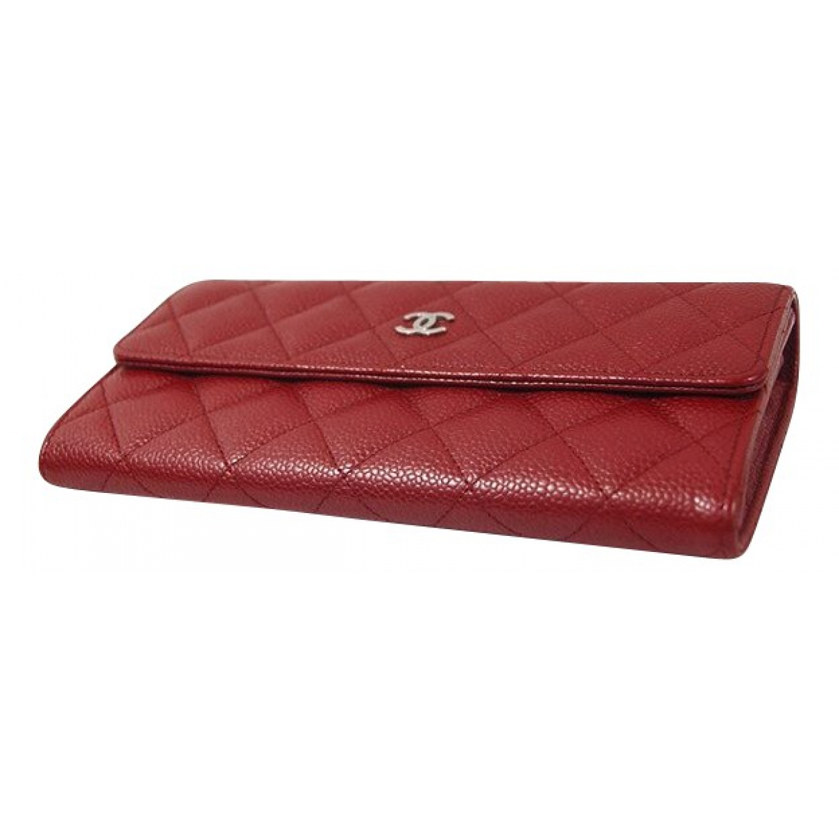 Chanel \N Red Leather wallet for Women \N