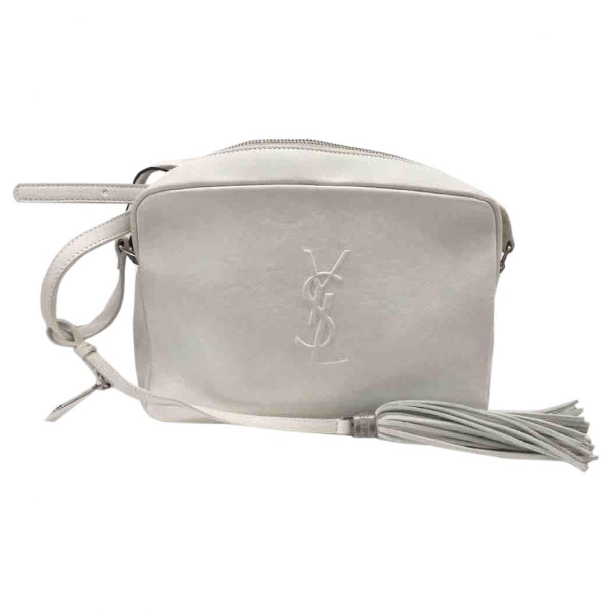 Saint Laurent Camera Lou White Leather handbag for Women \N