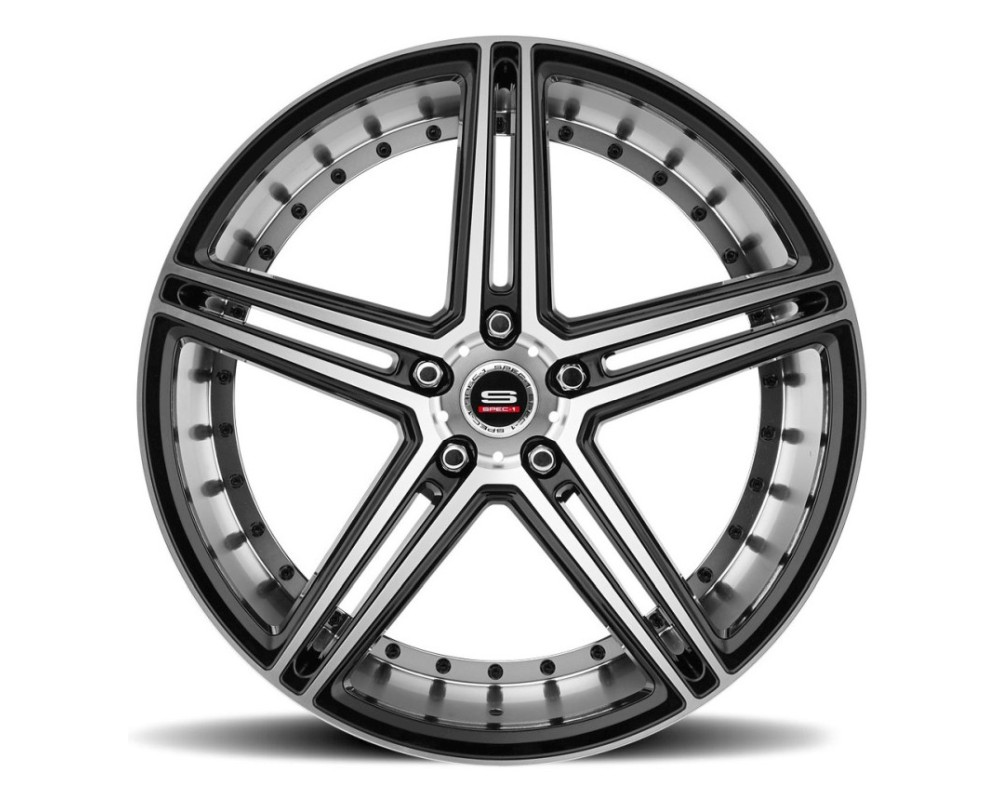 Spec-1 SPM-77 Wheel Monospec Series 20x10.5 5x114.3 38mm Gloss Black Machined