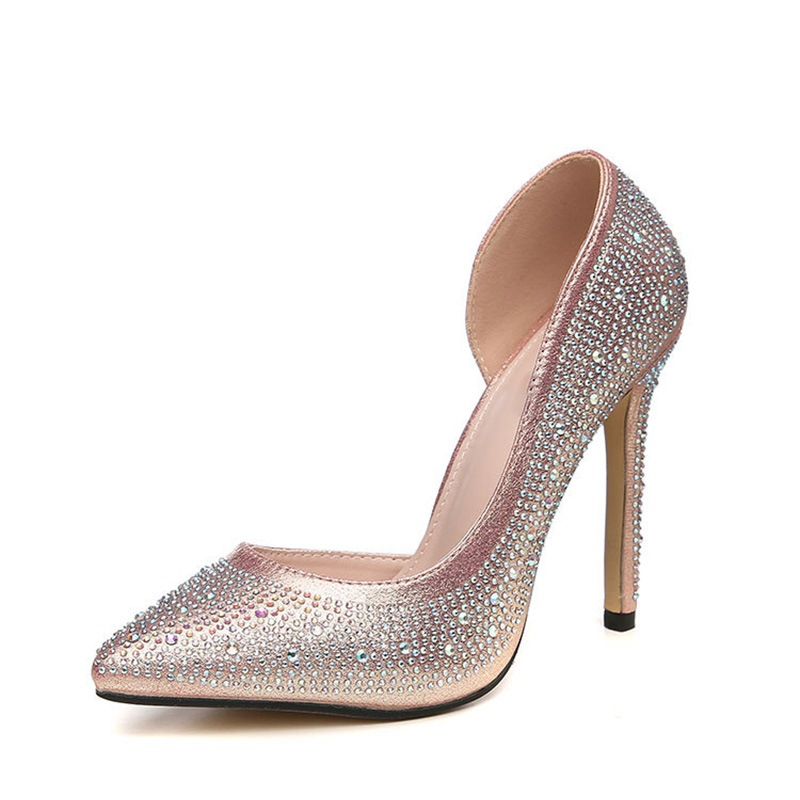 Ericdress Rhinestone Stiletto Heel Pointed Toe Women's Pumps