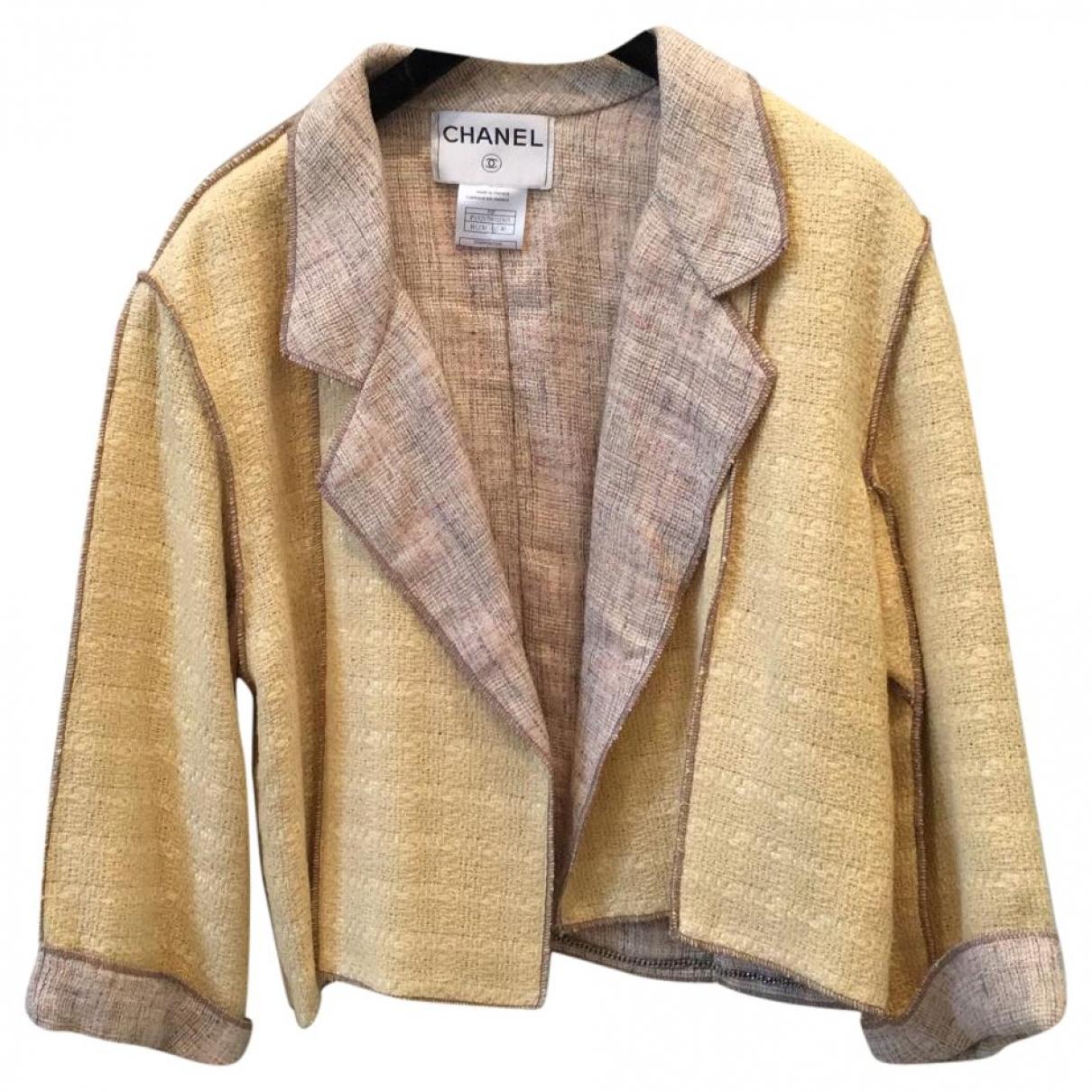 Chanel \N Beige Tweed jacket for Women 40 FR