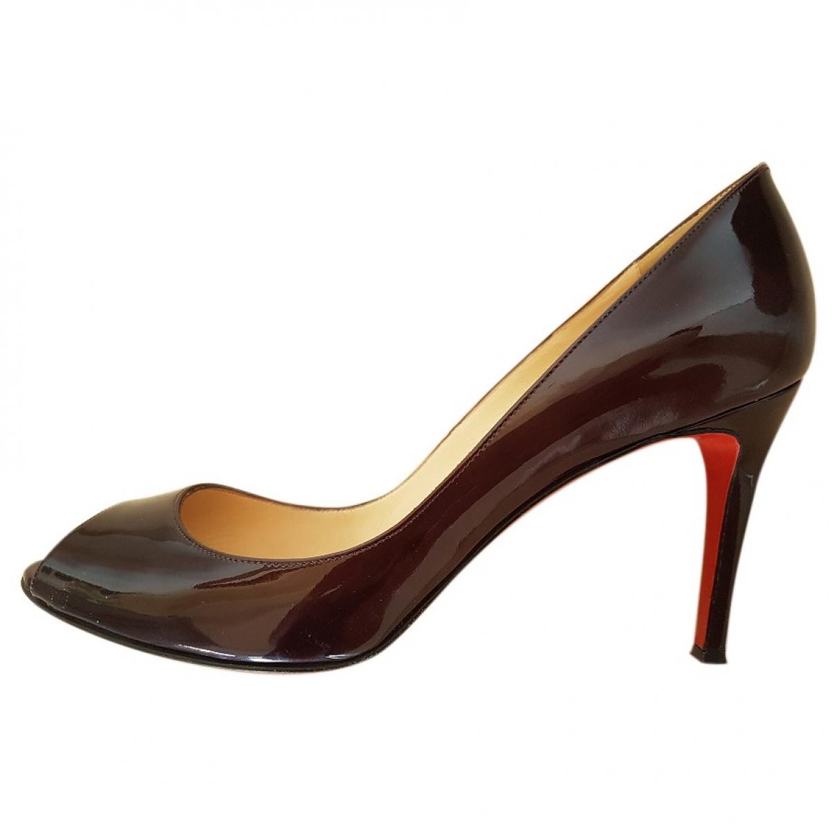 Christian Louboutin \N Brown Patent leather Heels for Women 40 EU