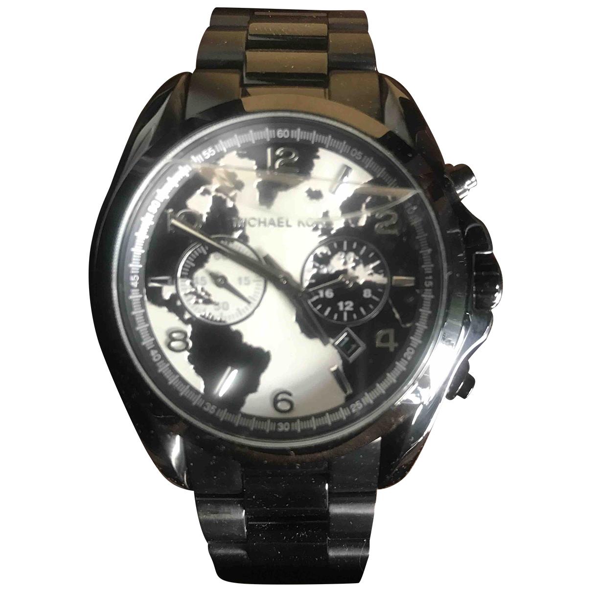 Michael Kors \N Black Steel watch for Men \N