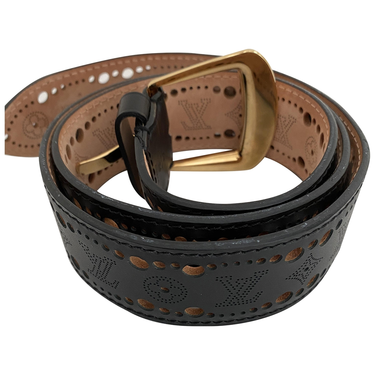 Louis Vuitton \N Black Leather belt for Women 90 cm