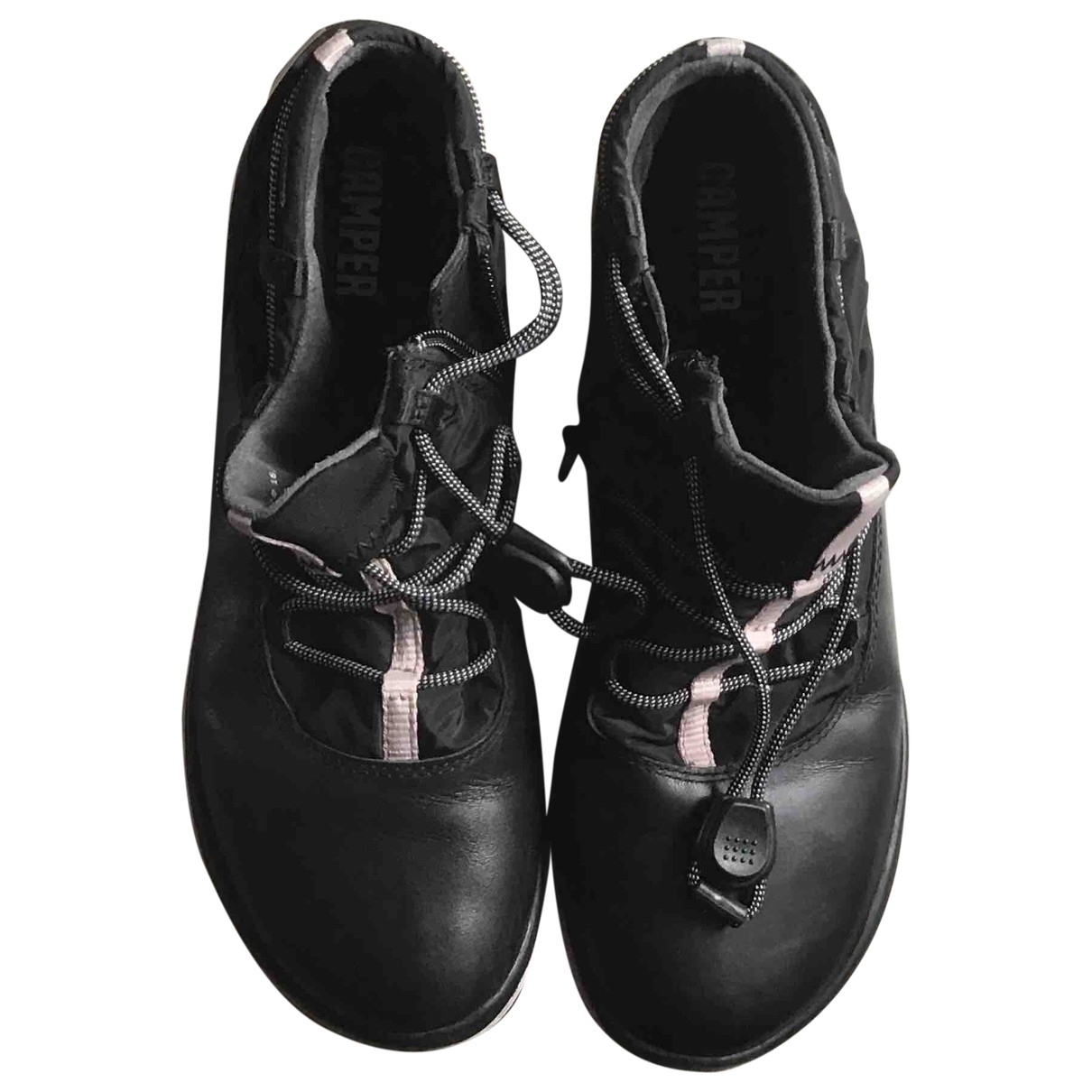 Camper \N Black Leather Ankle boots for Women 37 EU