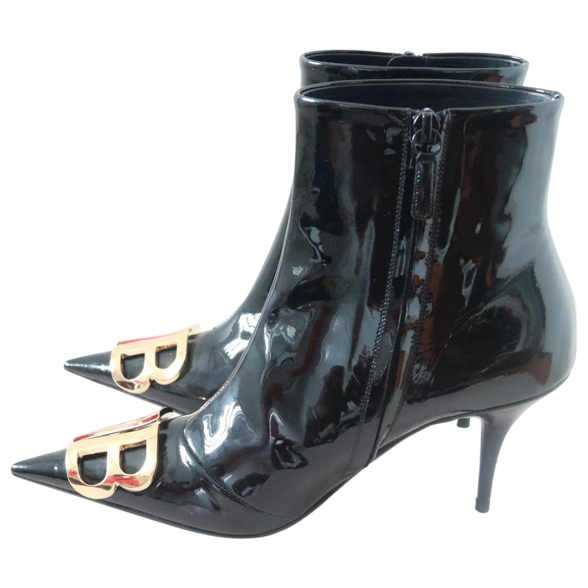 Balenciaga BB Black Patent leather Ankle boots for Women 39 EU