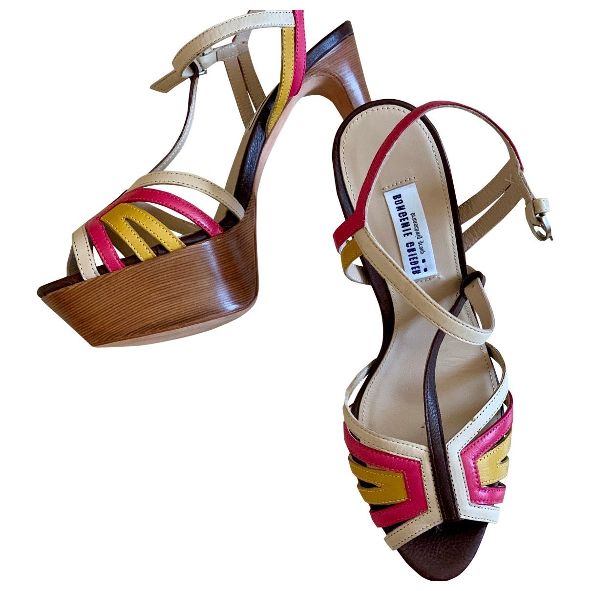 Bongenie Grieder \N Multicolour Leather Sandals for Women 36.5 EU