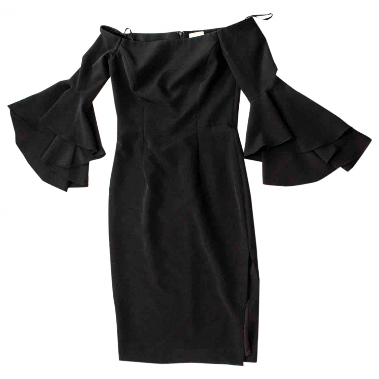 Milly \N Black Pony-style calfskin dress for Women 8 US