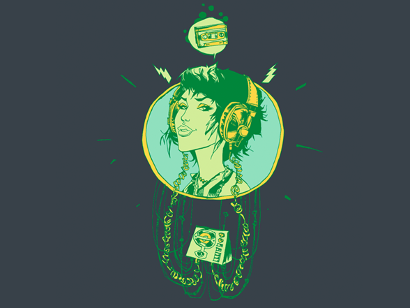 Headphone Funk T Shirt
