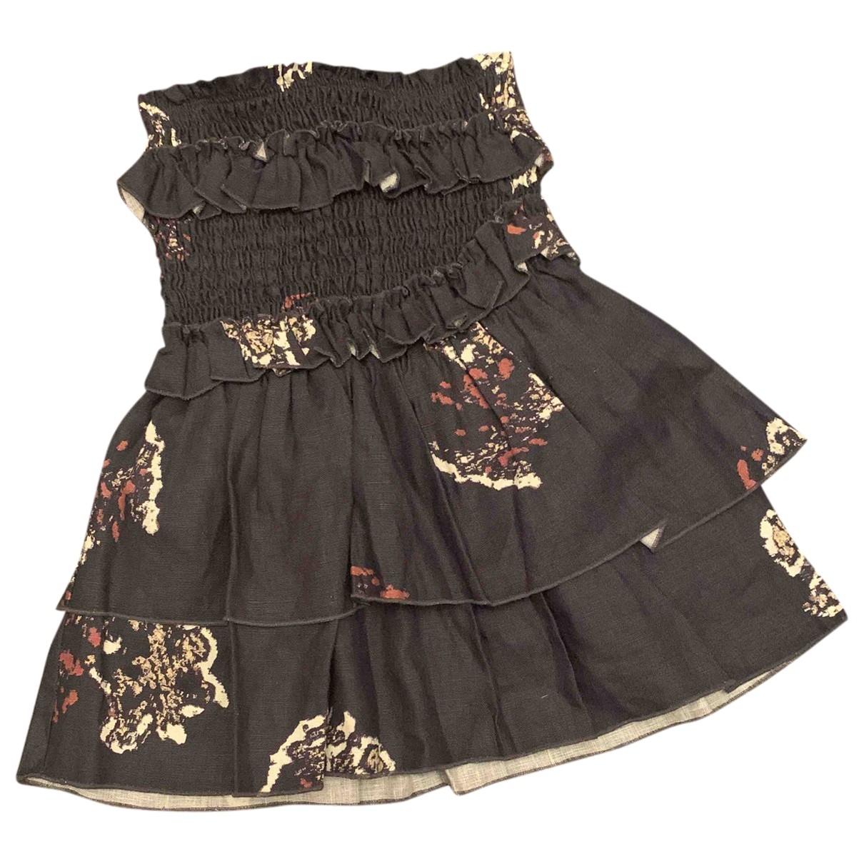 Sir \N Navy Cotton - elasthane skirt for Women 0 0-5