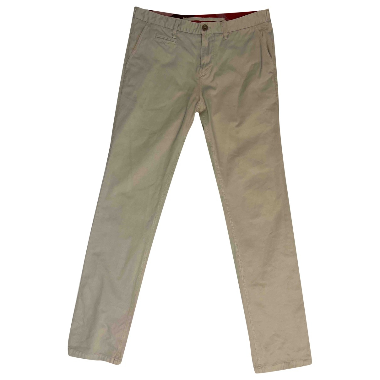 Burberry \N Beige Cotton Trousers for Men 32 UK - US