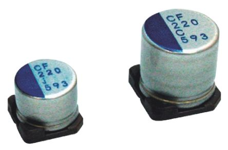 Nichicon 68μF Polymer Capacitor 20V dc, Surface Mount - PCF1D680MCL1GS (5)