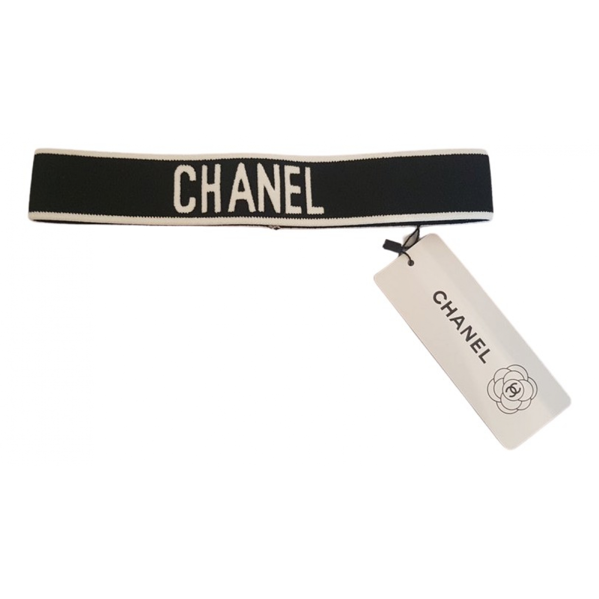 Chanel CHANEL Black Cloth Hair accessories for Women 55 cm