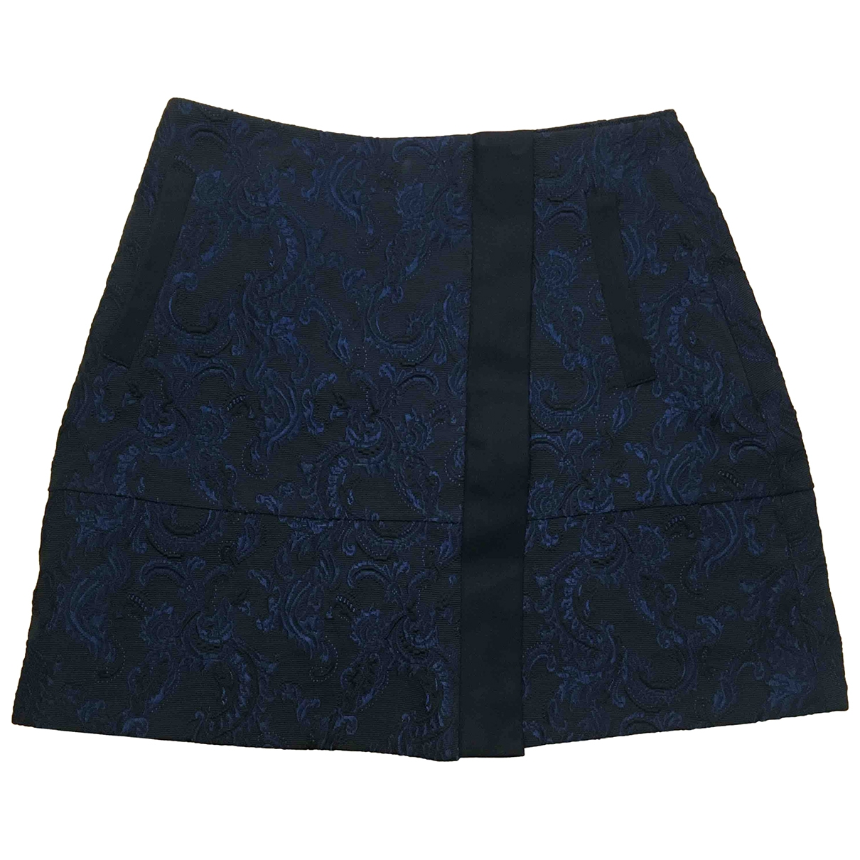 Non Signé / Unsigned \N Black Cotton skirt for Women 10 UK