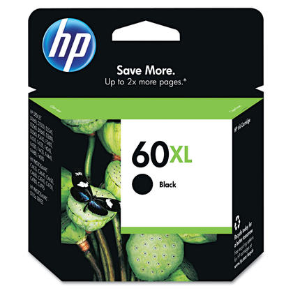 HP 60XL CC641WN Original Black Ink Cartridge High Yield