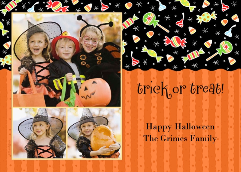 Halloween Photo Cards 5x7 Cards, Premium Cardstock 120lb with Elegant Corners, Card & Stationery -Halloween Candies