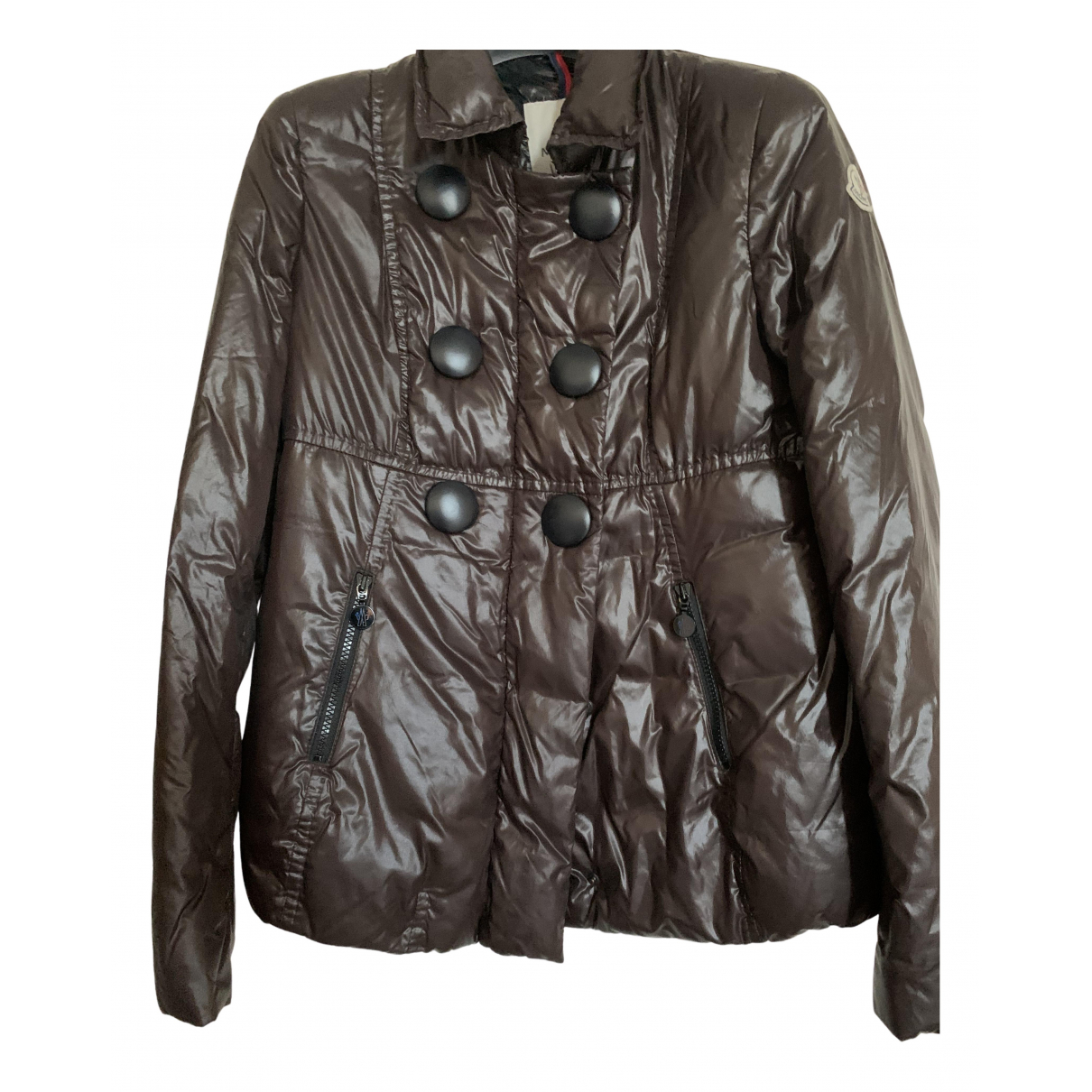 Moncler Classic Brown coat for Women 40 IT