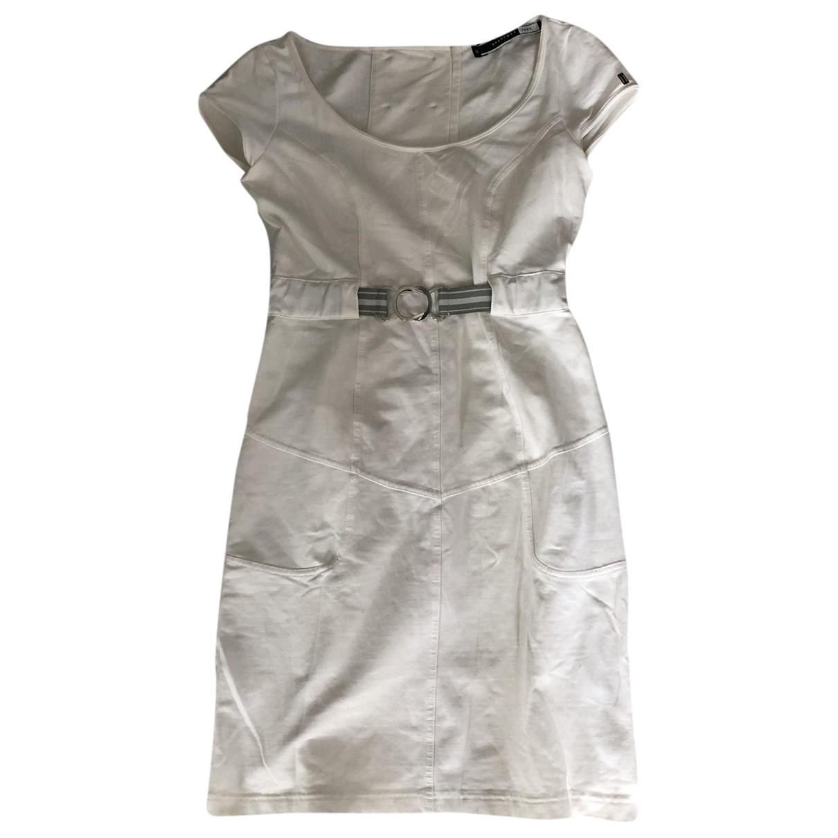 Sport Max \N White Cotton - elasthane dress for Women S International