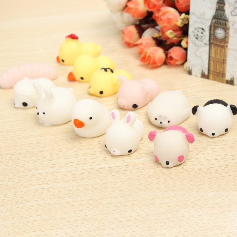 Mochi Bear Kawaii Squishy Squeeze Cute Healing Toy Collection Stress Reliever Gift Decor