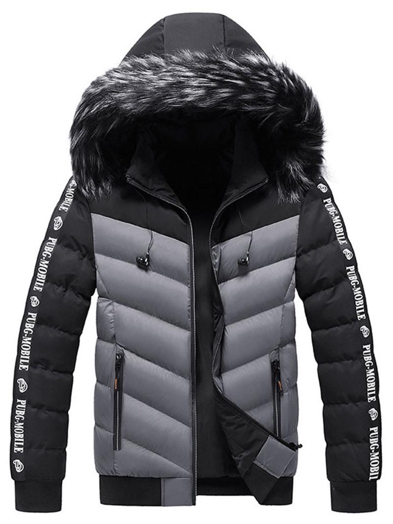 Ericdress Patchwork Color Block Standard Zipper European Down Jacket