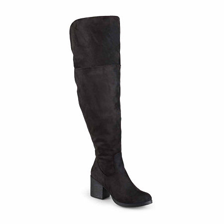 Journee Collection Womens Sana Over the Knee Boots, 8 Medium, Black