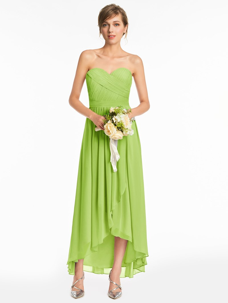 Ericdress Sweetheart A Line High Low Bridesmaid Dress