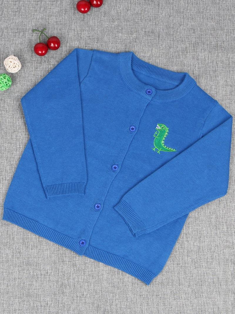 Ericdress Plain Cartoon Print Long Sleeve Boy's Cardigan