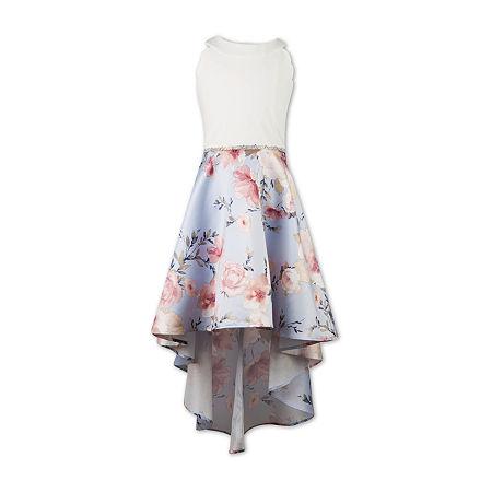 Speechless Big Girls Embellished Sleeveless Fit & Flare Dress, 8 , Blue