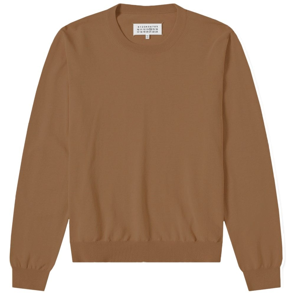 Maison Margiela Elbow Patch Pullover Jumper Colour: BROWN, Size: LARGE