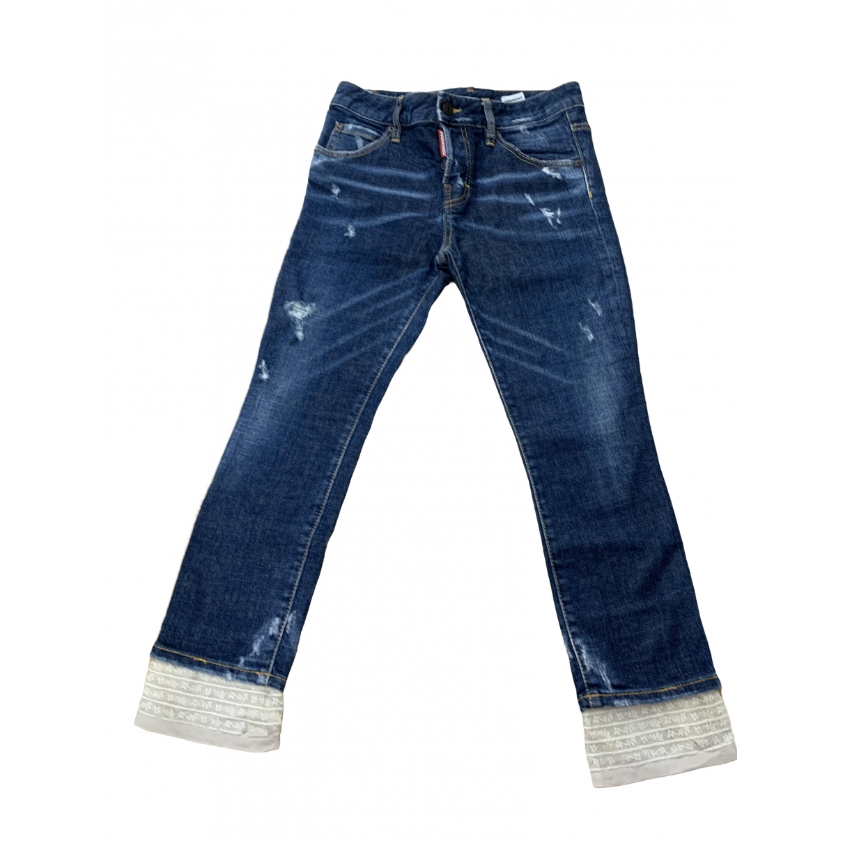Dsquared2 \N Blue Cotton - elasthane Jeans for Women 34 FR