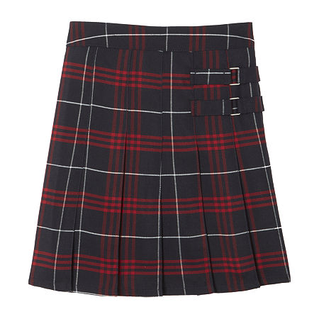 French Toast Plaid Little & Big Girls Scooter Skirt, 7 , Blue