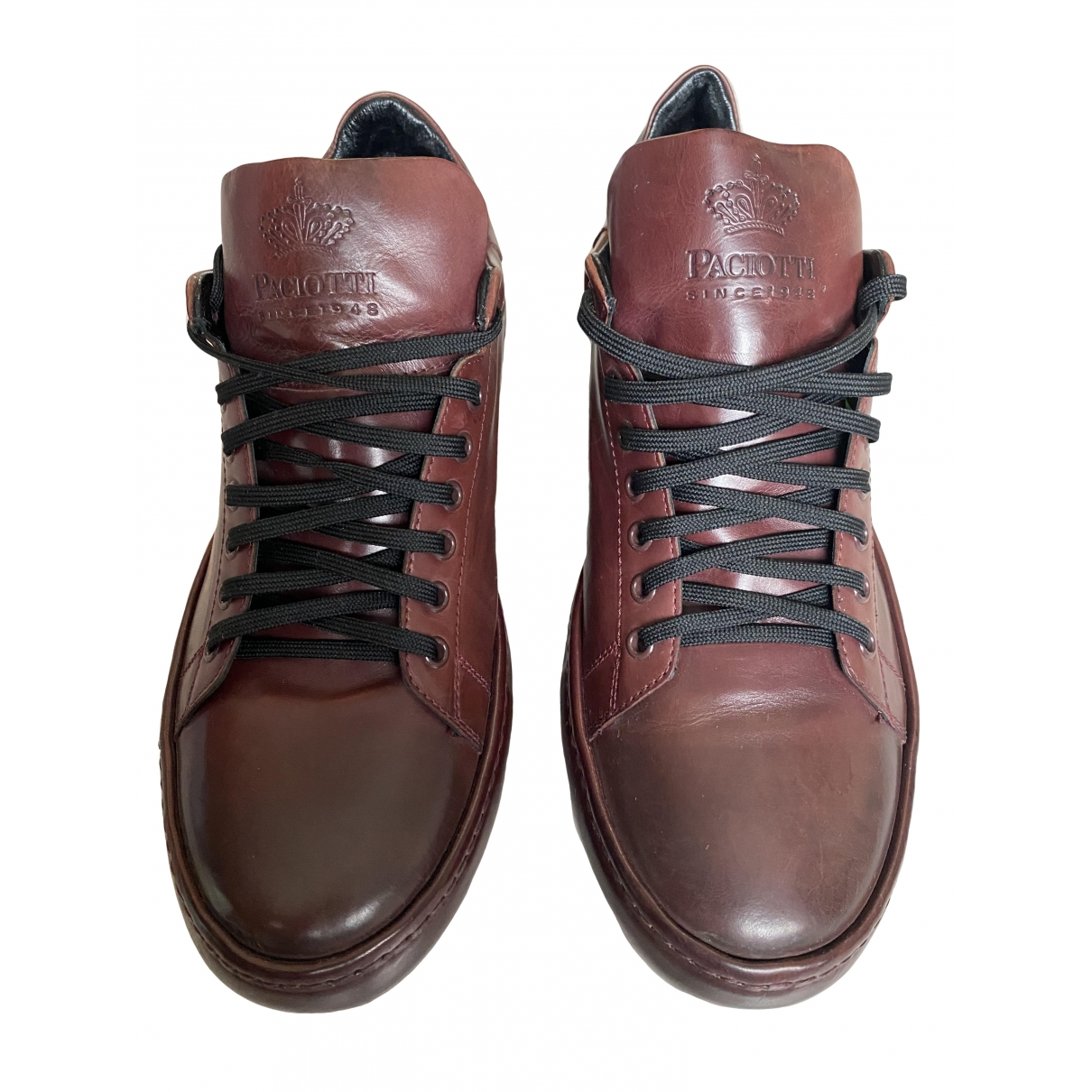 Cesare Paciotti \N Leather Trainers for Men 42 IT