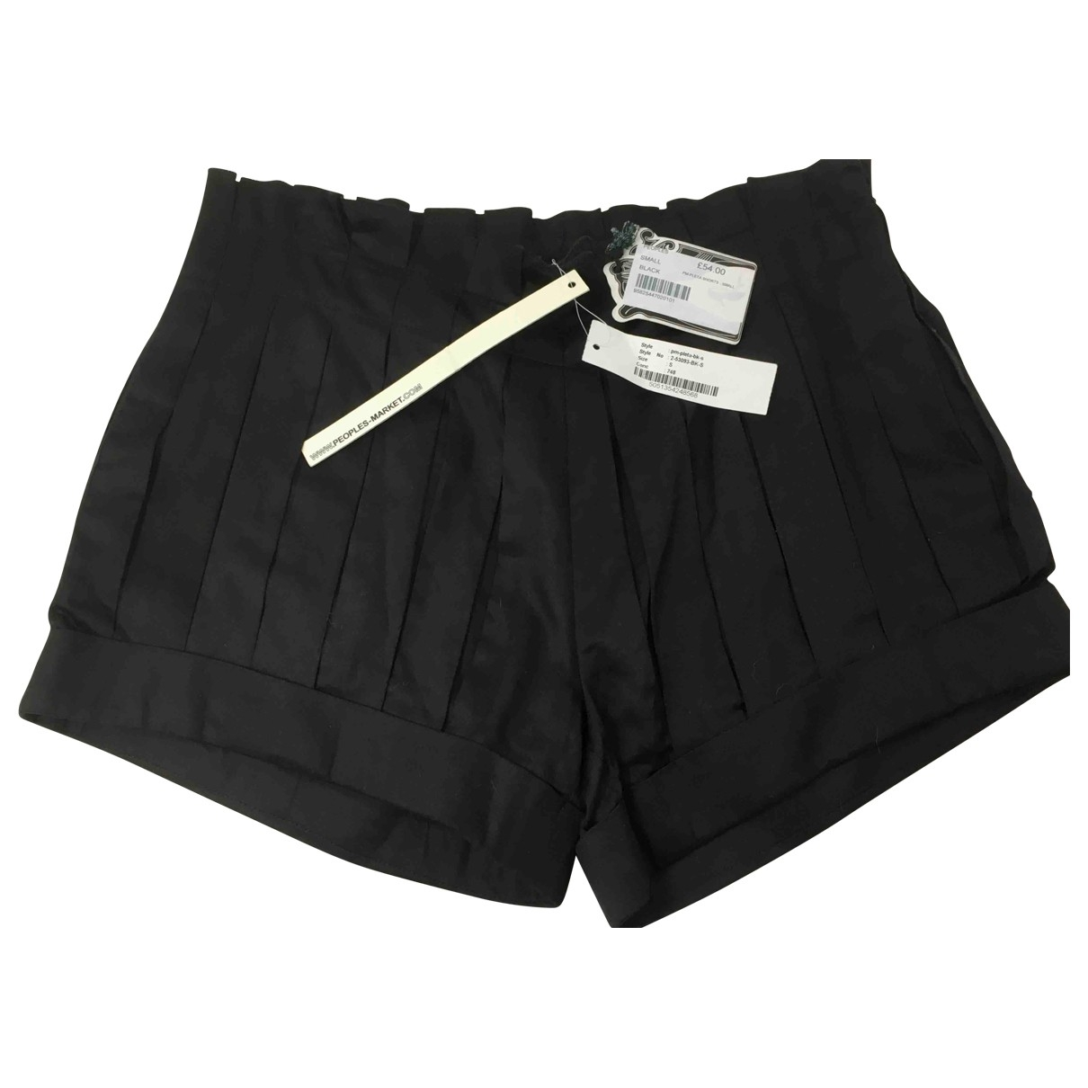 People's Market \N Black Cotton Shorts for Women S International